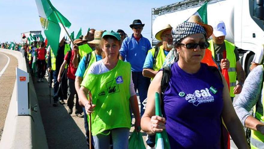 Marchas de la Dignidad, la columna andaluza (Foto cortesía de Marchas de la Dignidad)