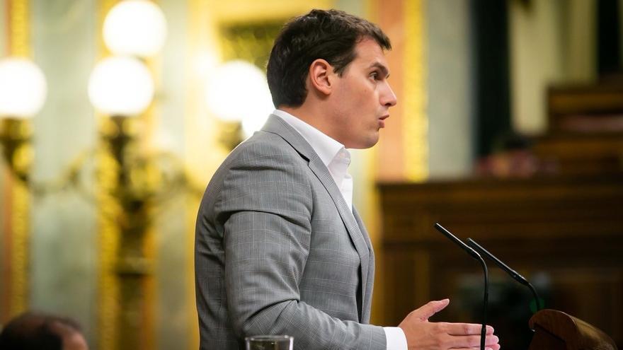 Albert Rivera en una comparecencia en la tribuna del Congreso