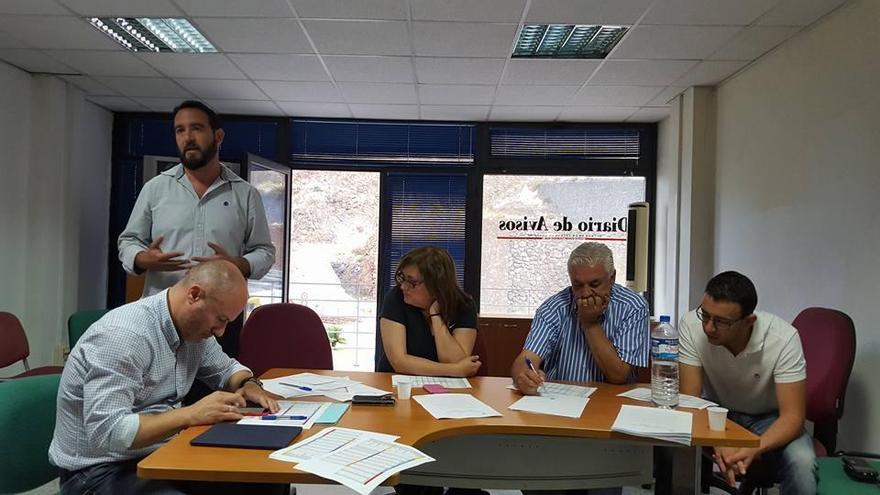 Un momento de la reunión del Consejo Político de Coalición Canaria (CC) de La Palma.