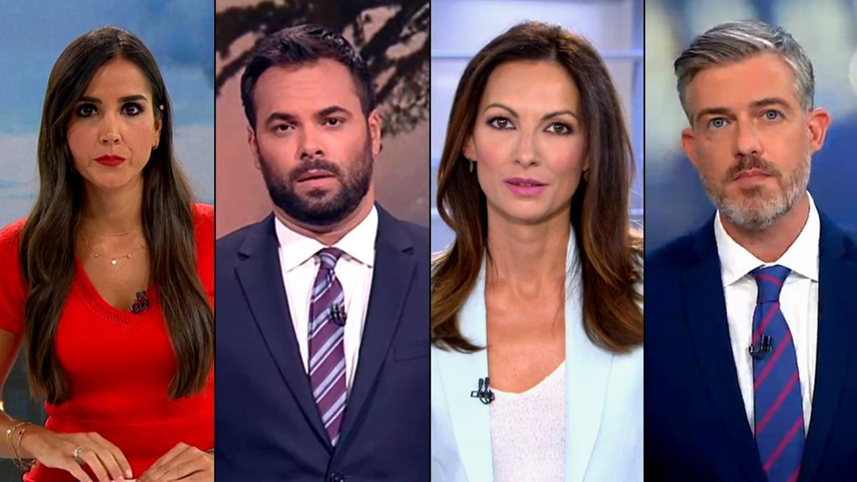 Algunos de los presentadores sustitutos que han conducido los informativos de verano