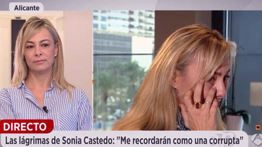 La exalcaldesa de Alicante, Sonia Castedo, en Espejo Público de Antena 3