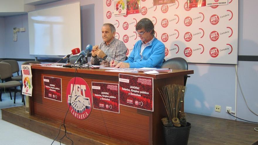 """UGT y CCOO comienzan las movilizaciones en el sector público y alertan del """"colapso"""" en la gestión de servicios"""