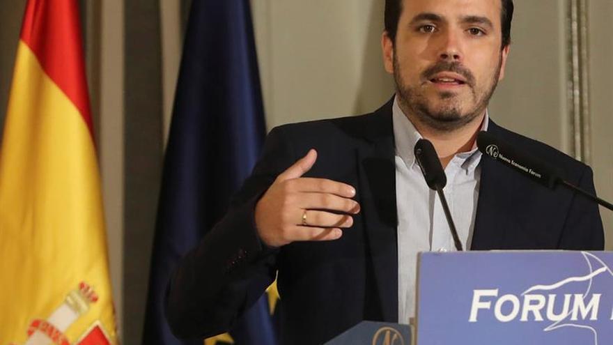 """Alberto Garzón cree que Pedro Sánchez """"intenta contentar a todos"""" con el Valle de los Caídos"""