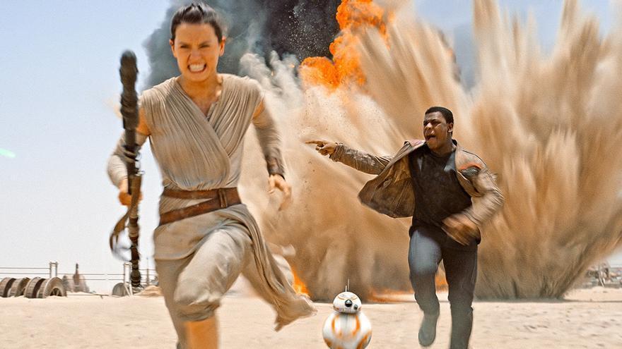 Rey, Finn y BB-8