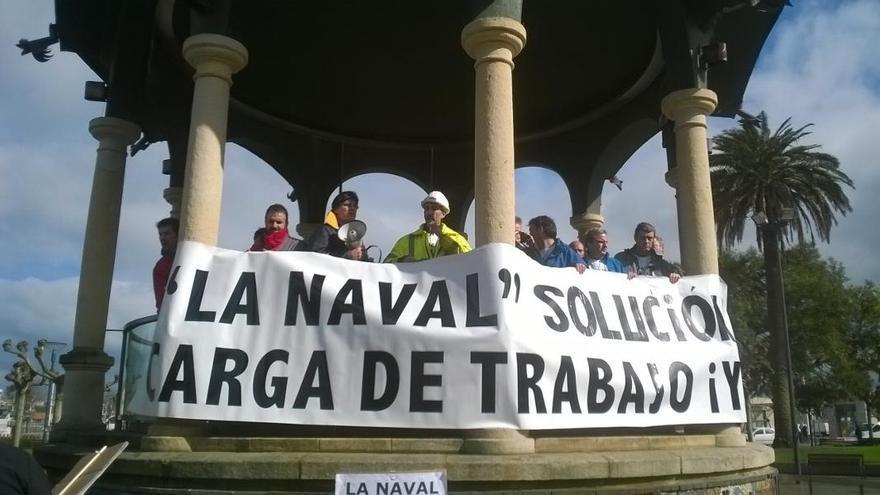 El comité de La Naval se encerrará 12 horas en el Ayuntamiento de Sestao a partir de este miércoles por la tarde