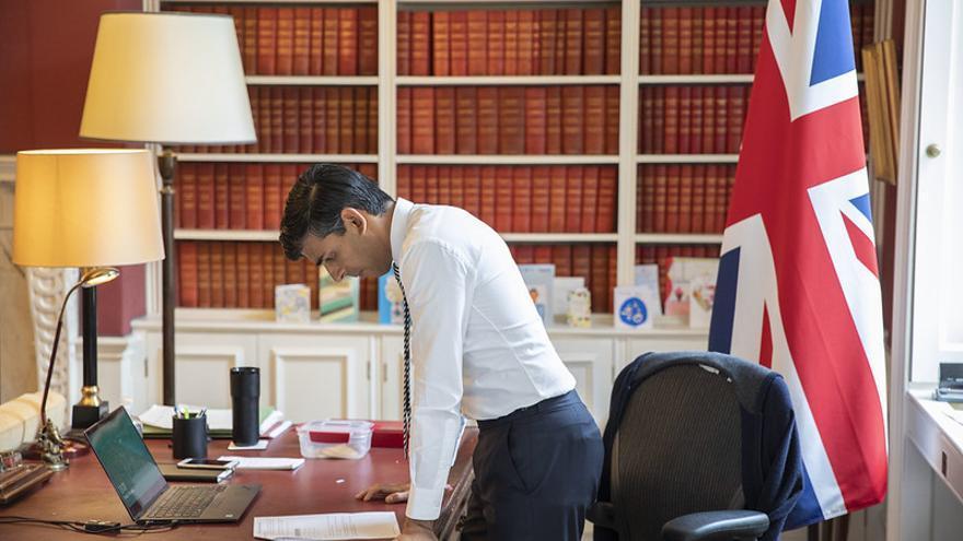 Rishi Sunak, ministro de Hacienda del Reino Unido