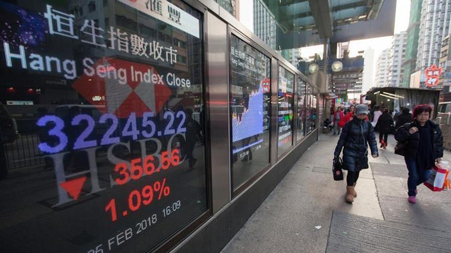 La Bolsa de Hong Kong sube un 0,17 % a media sesión