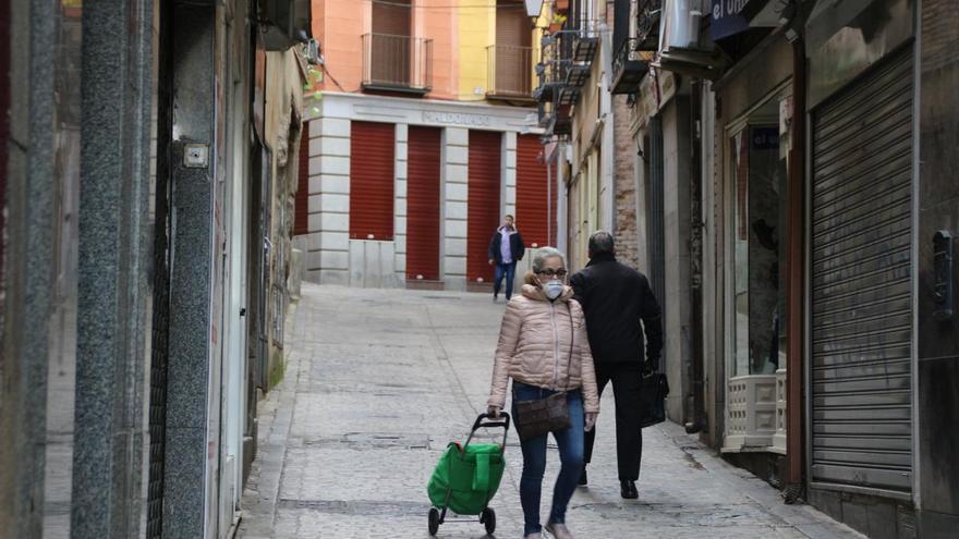Mascarillas en las calles de Toledo