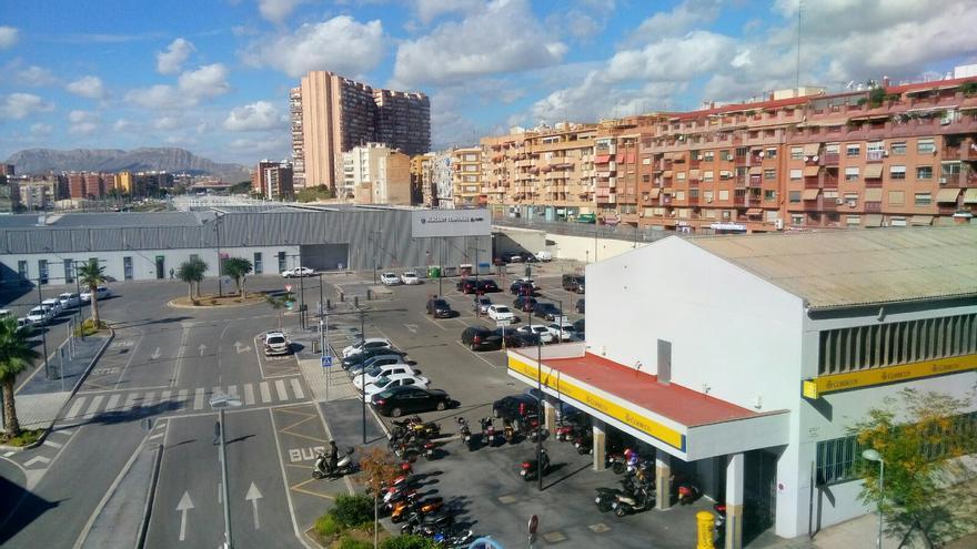 Estación provisional del AVE en Alicante donde debe ubicarse el Parque Central y bajo la que debe construirse la Estación Intermodal