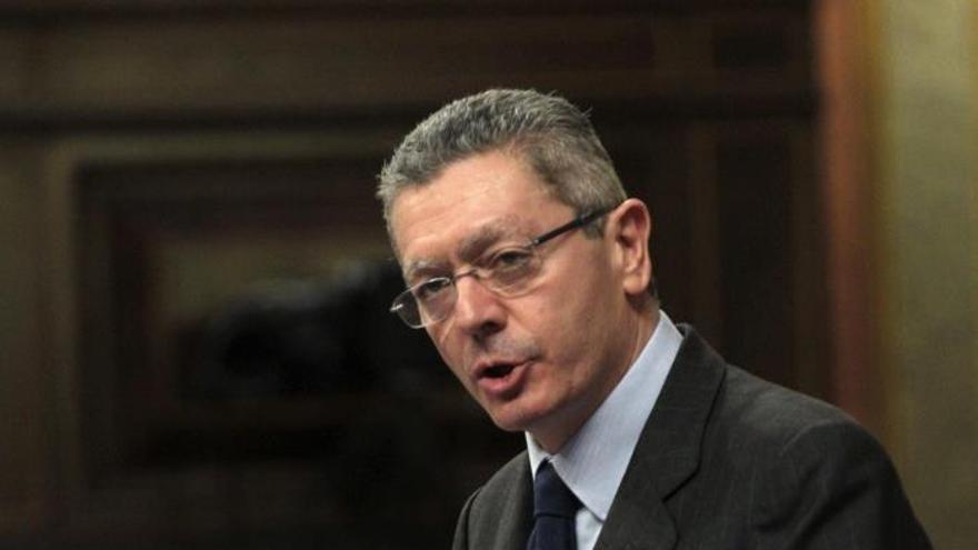 El Ministro de Justicia, Alberto Ruiz Gallardón
