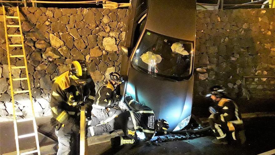Vehículo del accidente ocurrido en el sur de la isla esta mañana de miércoles