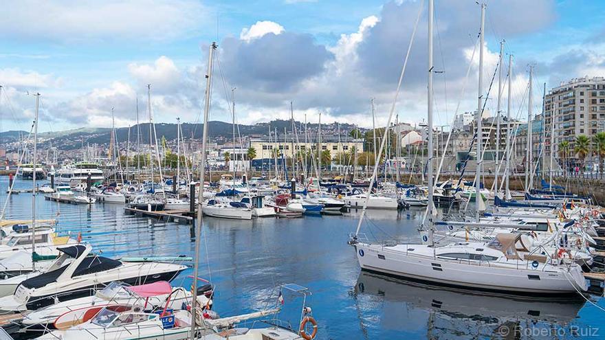 El puerto deportivo de Vigo.