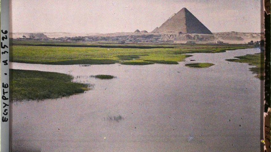 Léon; Egypte, Le Caire, Paysage sla route