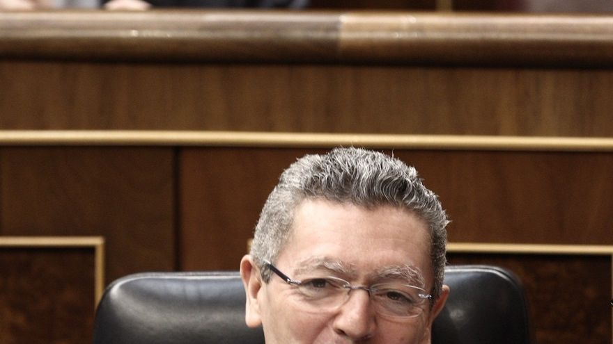 El ministro de Justicia, Alberto Ruiz Gallardón, en el Congreso / EP