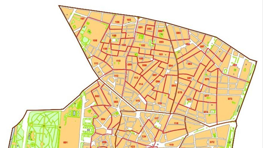 Mapa del distrito Centro de Madrid