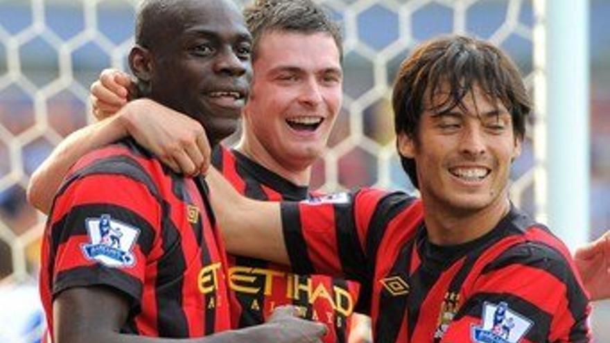 Silva con Nasri y Balotelli en una imagen de archivo (EUROPA PRESS).
