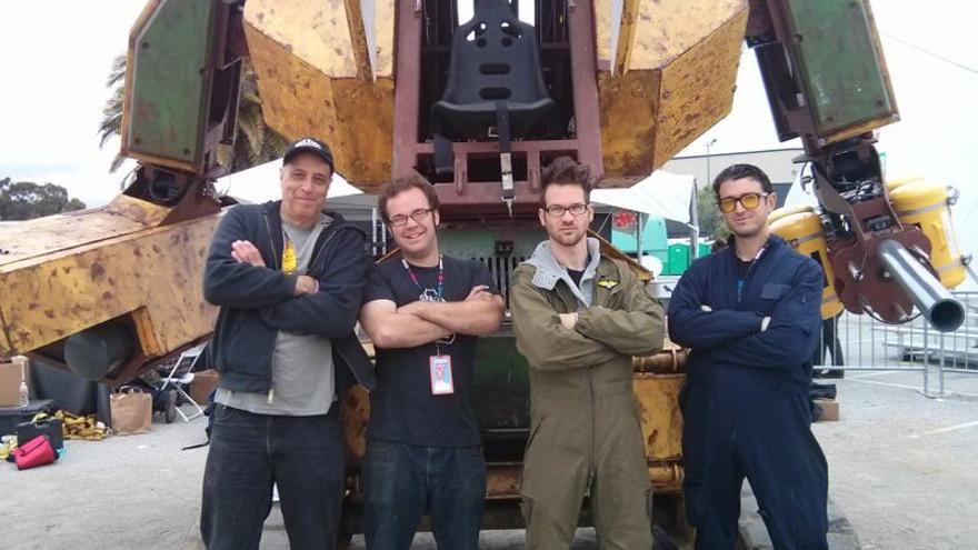 Gui Cavalcanti, Matt Oehrlein y Brinkley Warren, los fundadores de MegaBots