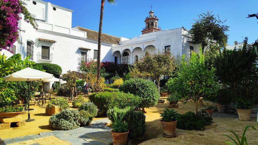 Uno de los jardines del Palacio de Medina Sidonia.