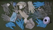 Guantes de plástico y mascarillas desechados en Gran Canaria ALEJANDRO RAMOS