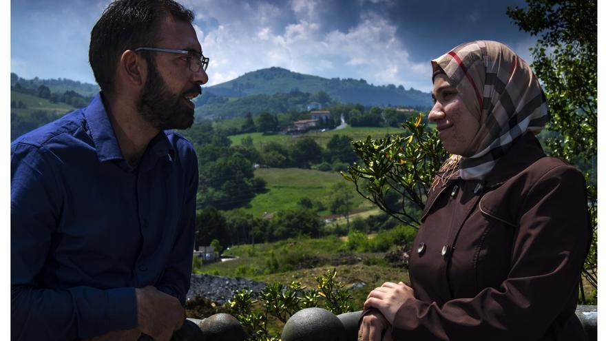 Mohamed y Nadera están actualmente reasentados en Zarautz