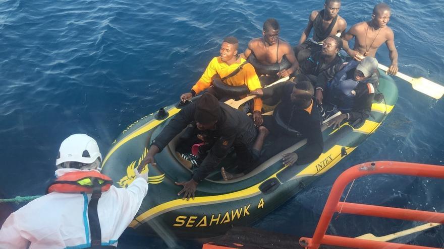 Se elevan a 66 los inmigrantes rescatados, hasta el momento, en el Estrecho