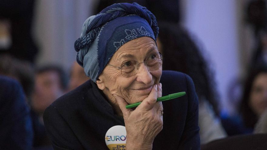 Emma Bonino, en la presentación del programa electoral de su partido el 3 de febrero.