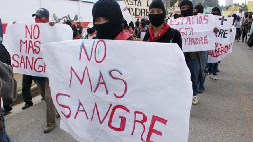 Un grupo de Zapatistas pide el fin de la violencia asociada al narcotráfico