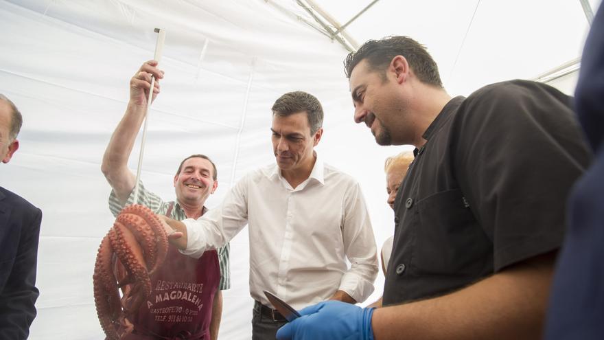 Pedro Sánchez durante un acto de campaña en Galicia / Foto: Borja Puig (PSOE)