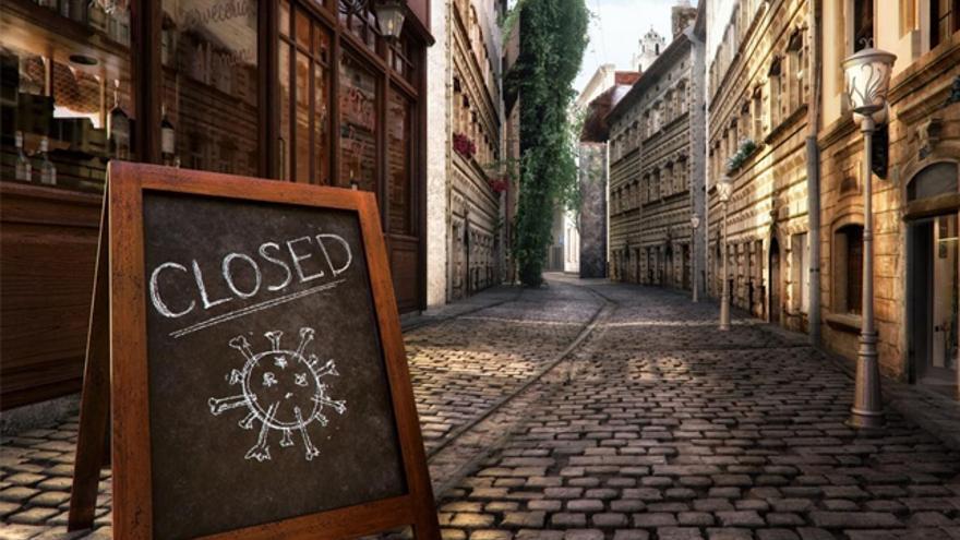 Una imagen de una de las muchas calles vaciadas en el mundo debido al impacto del coronavirus