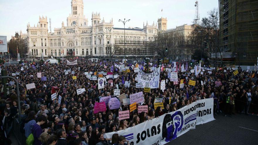 Vista de la cabecera de la marcha / Olmo Calvo