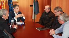 Momento de la reunión del consejero de Agricultura, Narvay Quintero, con integrantes de CCOO en Canarias