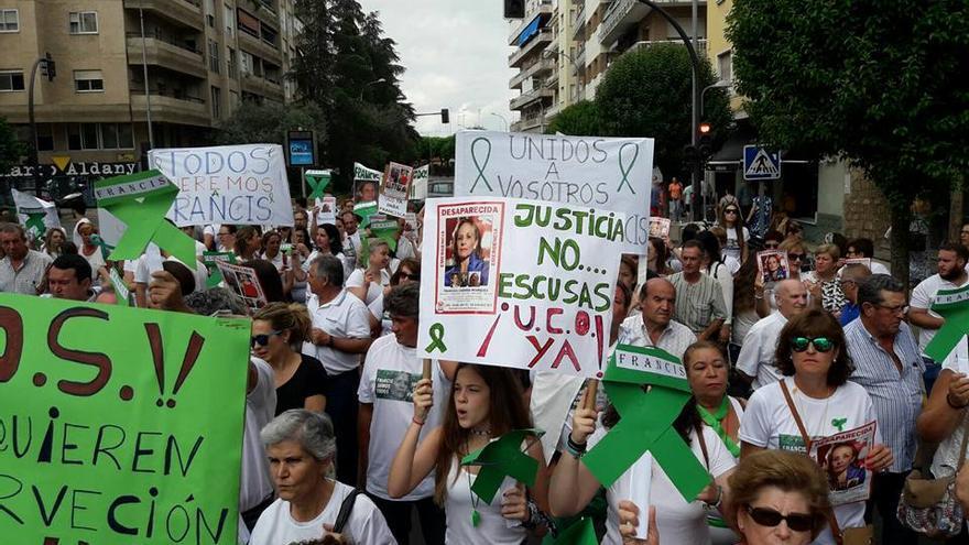 Momento de la concentración Francisca Cadenas Hornachos desaparecida