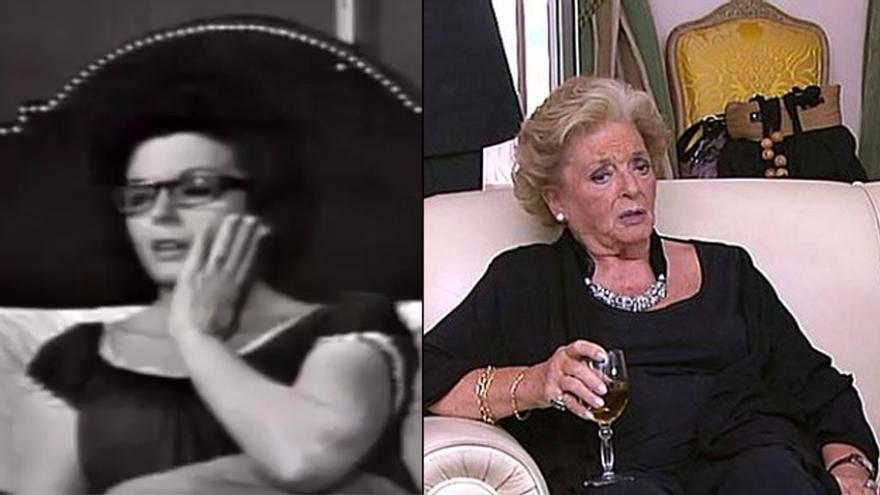 Marisa Porcel, en 1966 y 2013