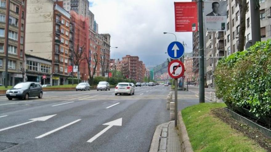 Una vía de Bilbao
