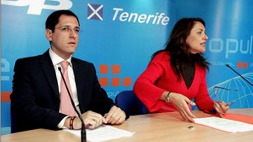 Ángel Llanos junto a Cristina Tavío, en una fotografía de archivo. (CANARIAS AHORA)