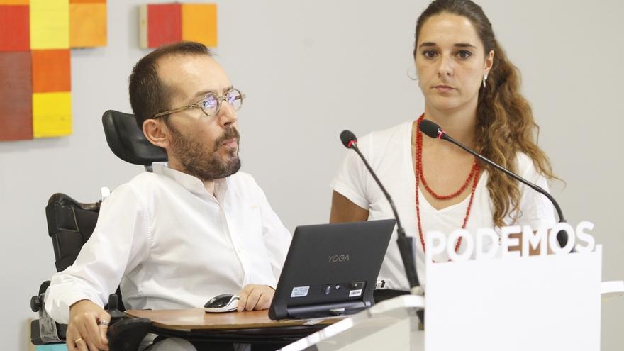 Podemos no reconocerá una declaración unilateral de independencia pero rechaza la posible detención de Puigdemont