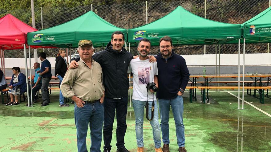 Borja Pérez y Asier Antona también acudieron al encuentro.