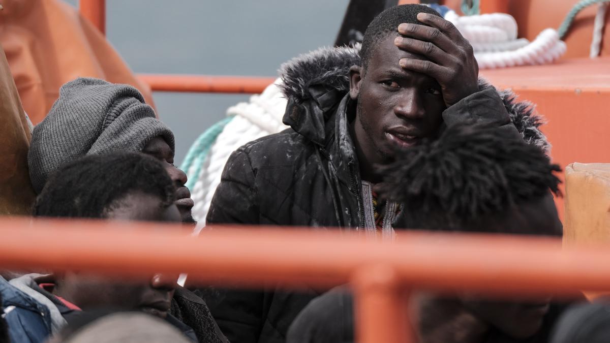 Una de las 42 personas rescatadas por Salvamento Marítimo al sur de Gran Canaria este 3 de mayo