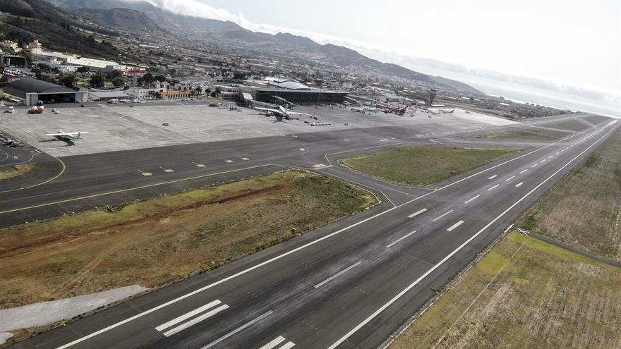 Imagen de archivo de la pista del aeródromo Tenerife Norte