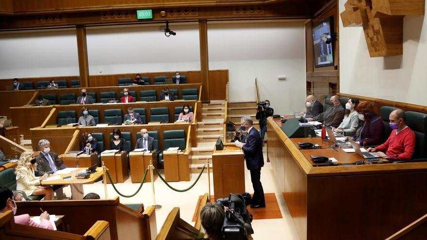 Pleno de control al Gobierno Vasco, en el Parlamento vasco, Vitoria