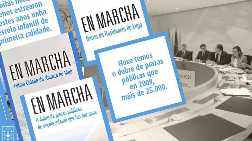 Algunas de las campañas de la Xunta retiradas por orden de la Junta Electoral
