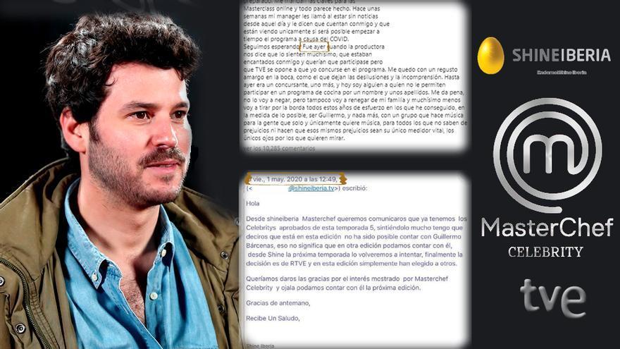Willy Bárcenas, MasterChef Celebrity, y el mail que la lió