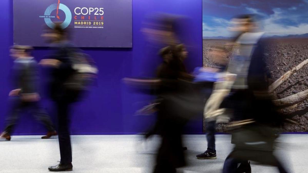 Una imagen tomada durante la COP25