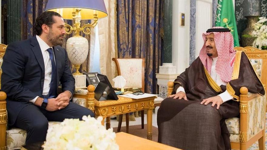 Hariri se reúne en Riad con el rey saudí, dos días después de su dimisión