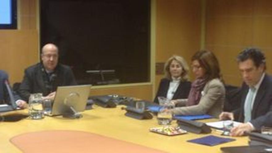 Calparsoro, Adán, Zuriarrain e Izaguirre, en el Parlamento Vasco