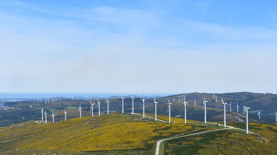 Parque eólico en Mazaricos