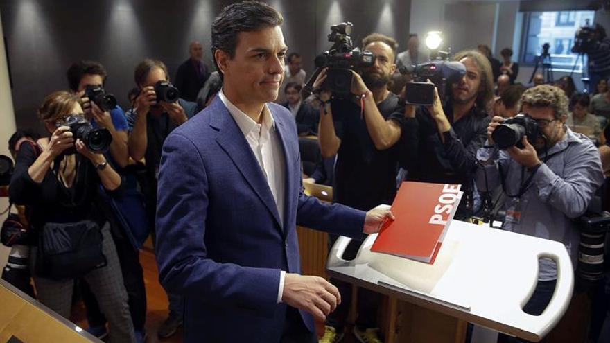 Pedro Sánchez, hoy en el Congreso.