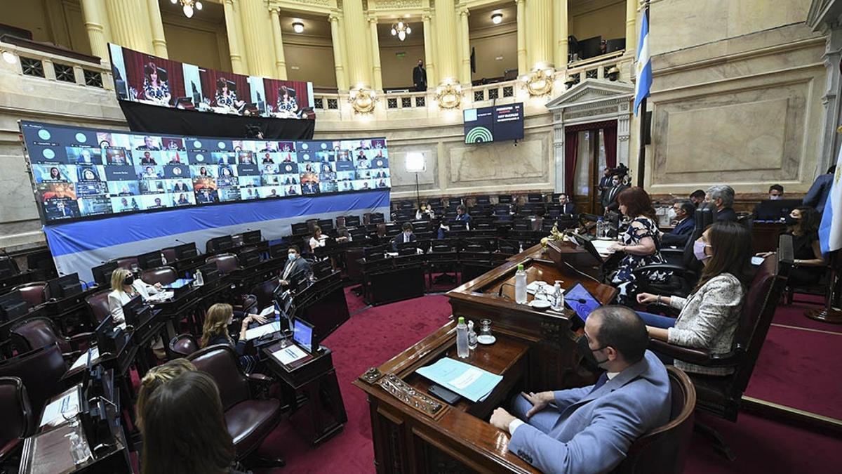 La sesión especial que se realizará en forma remota, con una mínima presencia de legisladores en el recinto de sesiones y el resto a través del sistema virtual.