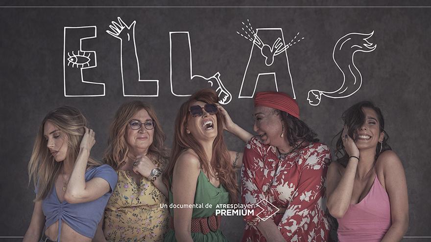 Cartel promocional de 'Ellas', el nuevo documental de Atresplayer Premium
