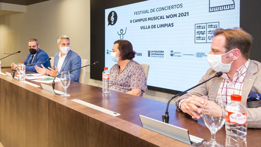 El vicepresidente y consejero de Universidades, Igualdad, Cultura y Deporte, Pablo Zuloaga, presenta el X Campus Musical WOM Cantabria 2021 Villa de Limpias